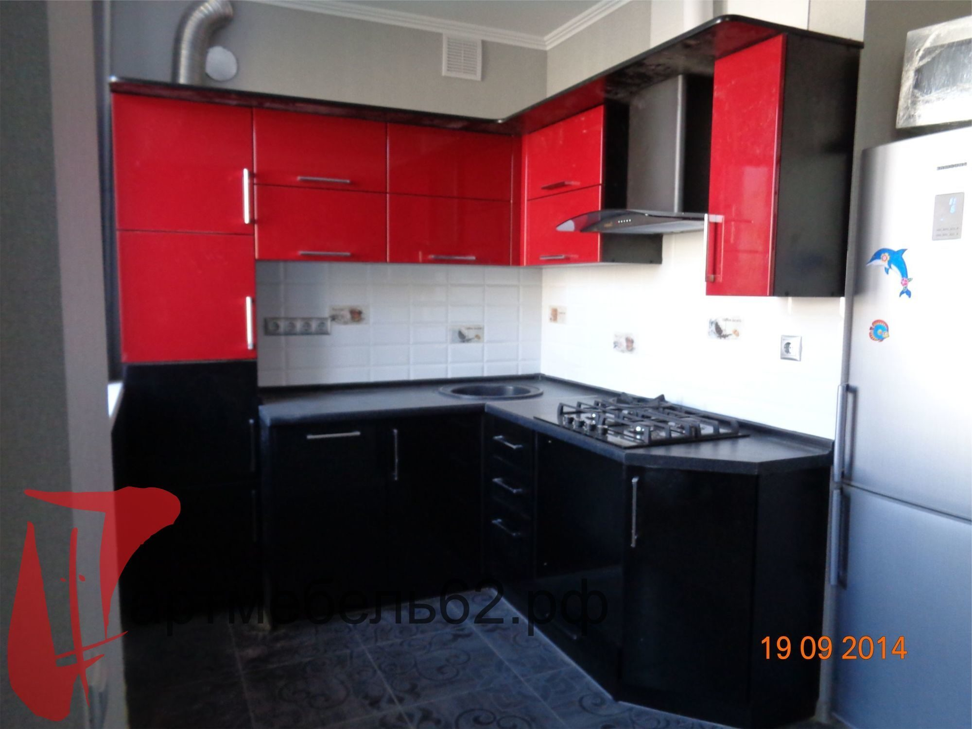 кухни фото красно черные
